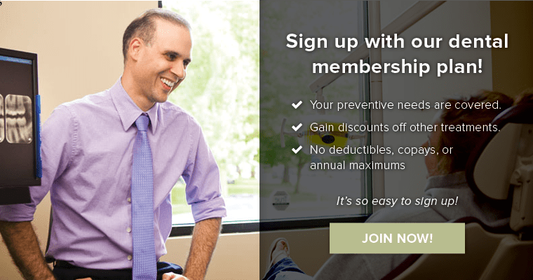 Sign up with Harmony Dental's membership plan!