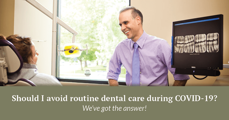 """Dr. da Costa with """"Should I avoid routine dental care during COVID? We've got the answer!"""""""
